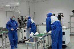 linie produkujace maski medyczne