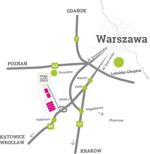 mapa dojazdu